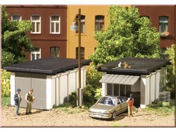 Auhagen 2 Fertigteilgaragen HO
