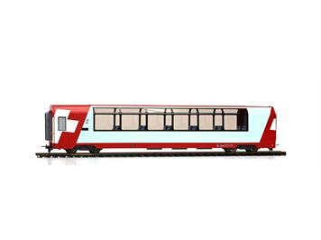 "Bemo 3689 127 RhB Bp 2537 Panoramawagen ""Glacier Express"" HO 2L-GS/ DC"