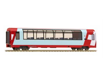 "Bemo 3689 128 RhB Bp 2538 Panoramawagen ""Glacier Express"" HO 2L-GS/ DC"