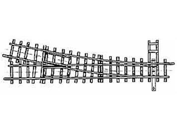 Bemo 4210 000 HOm 12° Weiche rechts, 162,3mm, R 515mm