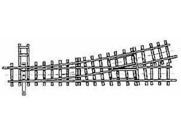 Bemo 4211 000 HOm 12° Weiche links, 162,3mm, R 515