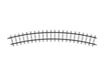Bemo 4230 000 gebogenes Gleis H0m, R 330 mm, H0m