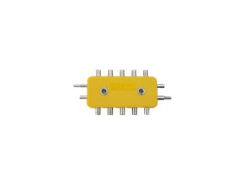 Brawa 2593 Verteilerplatte gelb 5-fach für 1,6 mm-Stecker (neue Märklin Stecker)