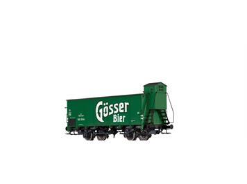 """BRAWA 67460 gedeckter Güterwagen G10 """"Gösser"""" BBÖ N"""