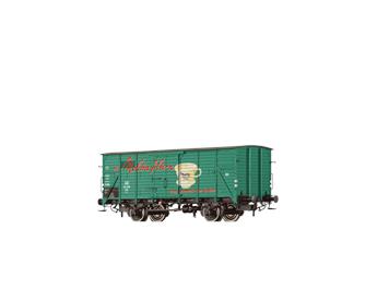"""BRAWA 67490 gedeckter Güterwagen G10 """"Melitta"""" DB N"""