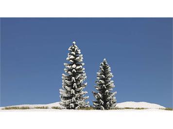 Busch 6152 2 verschneite Fichten 90 mm hoch HO