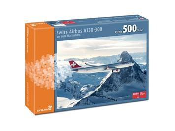 Carta.Media 1094 Puzzle SWISS Airbus A 330-300 (500 teilig)