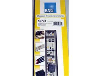 ESU 50703 LED Wageninnenbeleuchtungs-Set mit Schlusslicht weiss/gelb (für Grossbahnen)