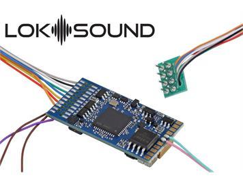 """ESU 58410 LokSound 5 DCC/MM/SX/M4 """"Leerdecoder"""", 8pol. Stecker mit Lautsprecher 11x15mm"""
