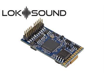 """ESU 58412 LokSound 5 DCC/MM/SX/M4 """"Leerdecoder"""", PluX22, mit Lautsprecher 11x15mm"""
