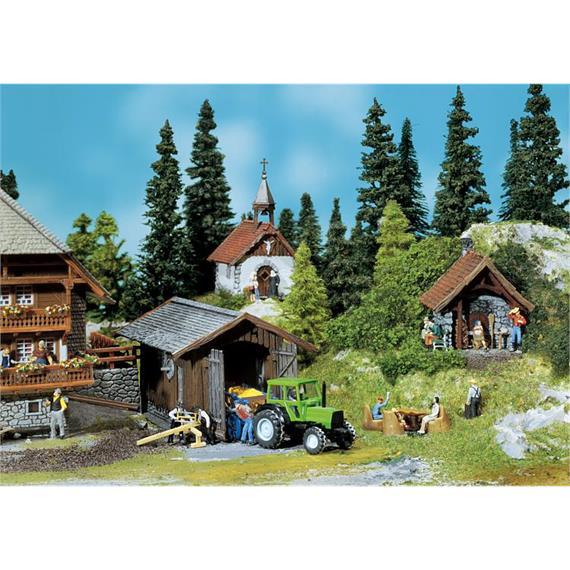 Faller 130379 Backhaus, Kapelle, Geräteschuppen, Spur H0