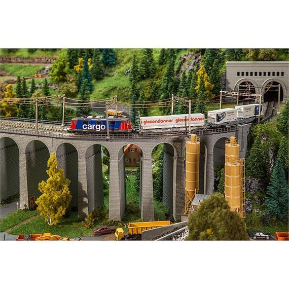 Faller 222598 Viadukt-Set, 2-gleisig, gebogen, N