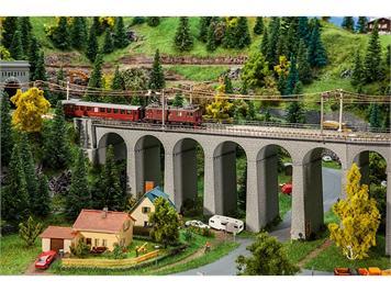 Faller 222599 Viadukt-Set, 2-gleisig, gerade, N