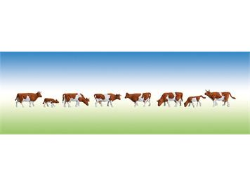 Faller Kühe braun gefleckt N