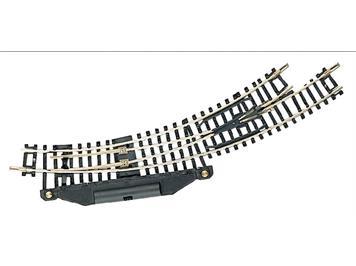 Fleischmann 22273 elektrische Bogenweiche links R1/R2 N