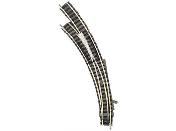 Fleischmann 9168 Bogenweiche links für Handbetrieb, mit stromleitendem Herzstück