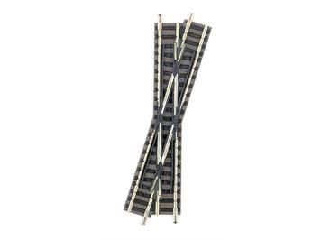 Fleischmann Kreuzung 15°, Länge 111 mm Rechtskreuzend, N