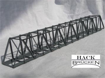 HACK 21200 N Lange Kastenbrücke schräg 35 cm KN35, Fertigmodell aus Weissblech