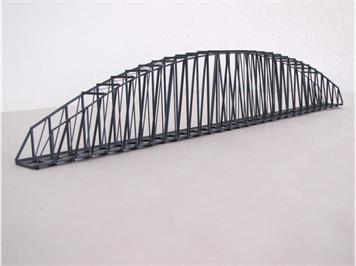 HACK 23160 N Bogenbrücke 50 cm grau BN50-A, Fertigmodell aus Weissblech