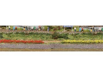 HEKI 1814 10 Grasstreifen gelb-rot gemischt 10 cm