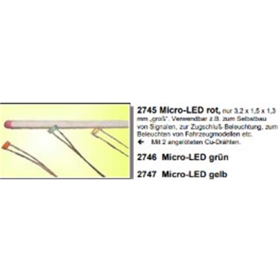Herkat 2747 Micro-Leuchtdiode, gelb