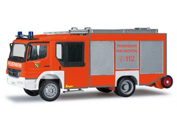 "Herpa 091299 Mercedes-Benz Atego Ziegler Z-Cab LF 20 ""Feuerwehr Waldachtal"" HO"