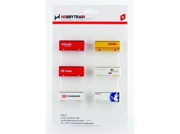 Hobbytrain 9012 Container-Set Jumbo 6teilig N