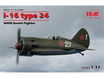 ICM 32001 Polikarpov I-16 Type 24, 1:32