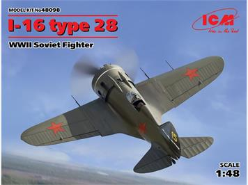 ICM 48098 I-16 type 28 WWII Soviet Fighter · ICM · Maßstab 1:48