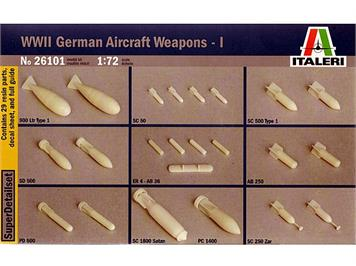 Italeri WWII German Aircraft Weapons - I 1:72