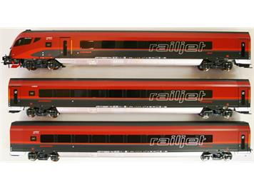 Jägerndorfer Collection ÖBB Railjet 3er Set (mit Steuewagen)