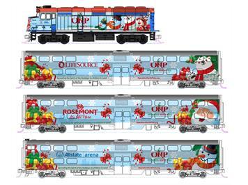 Kato 106-2016 Operation North Pole Christmas Train mit F40PH (Grundset) N