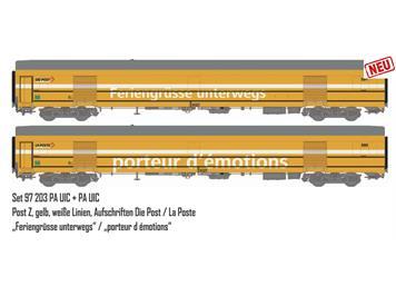 L.S.Models 97203 PTT 2er Set Postwagen Ep. V, DC, H0