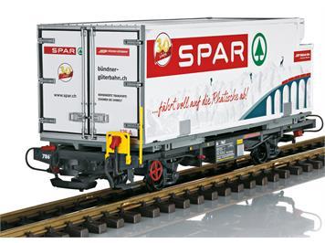 """LGB 46897 RhB Containerwagen """"SPAR"""", G IIm"""