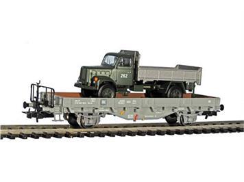 Liliput 235047 SBB Rungen Kms-w grau mit Berna 2VM Kipper Militär