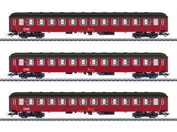 Märklin 42694 Persoenenwagen - Set Drei Reisezugwagen Bcm, 2. Klasse der DSB, H0