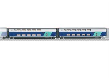 Märklin 43433 SNCF Ergänzungswagen-Set 2 zum TGV Eurodupl - NEUHEIT 2021 - Vorbestellpreis