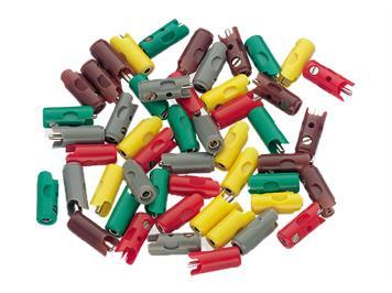 Märklin 71400 Stecker- und Muffen-Packung, 100 Stück assotiert