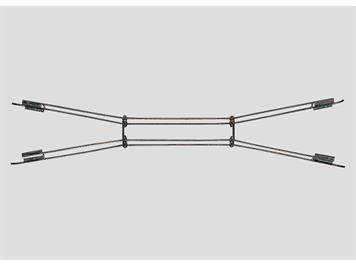 Märklin Fahrdraht für Kreuzungen 22,5° / L 140,2