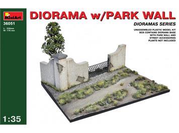 MiniArt 36051 Diorama w/Park Wall 1:35