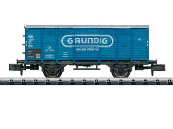 """Minitrix 15397 Gedeckter Güterwagen """"GRUNDIG"""", eingestellt bei der DB, N (1:160)"""