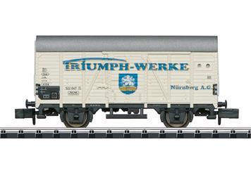 Minitrix 15398 gedeckter Güterwagen Bauart Gr 20. Privatwagen eingestellt bei der DB, N