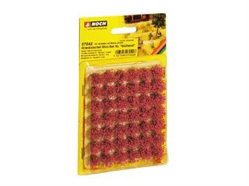 Noch 07042 Mini-Set XL Grasbüschel blühend rot veredelt