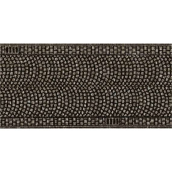 NOCH 34070 Kopfsteinpflaster, 30 mm breit, in 2 Rollen à 1 m, Spur N
