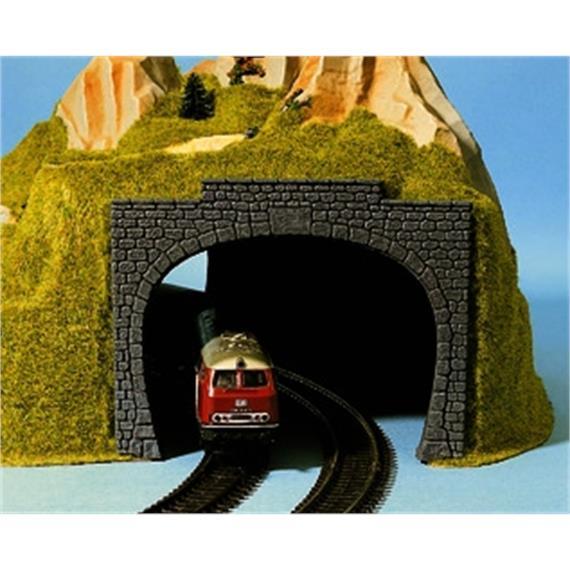 NOCH 34410 Tunnel-Portal, 2-gleisig, 2 Stück, 9,5x7 cm Spur N