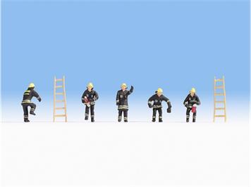 Noch 36021 Feuerwehr (schwarze Schutzanzüge) N
