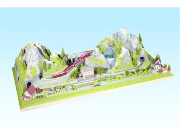 Noch 83860 Fertiggelände Bergün (nur für Kato-Gleise) N