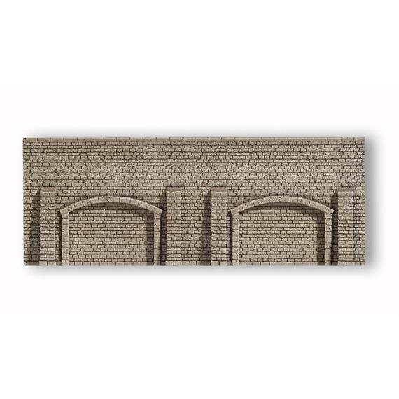 NOCH Arkadenmauer PROFI-plus, 33,5 x 12,5 cm Spur H0