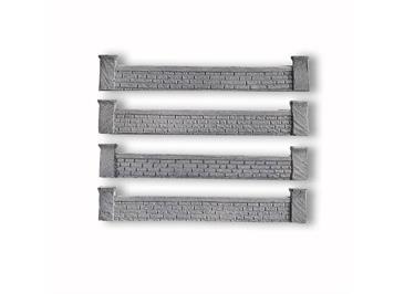 NOCH Villenmauer, 4 Stück, je 2,0 x 12 cm Spur H0