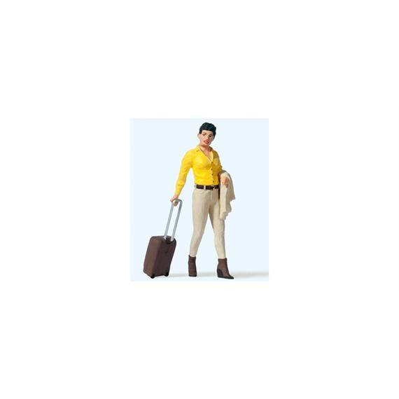 Preiser 45525 Reisende mit Koffer-Trolley, Spur G 1:22,5